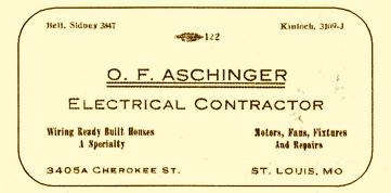 Otto Aschinger Card