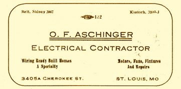 Otto Aschinger Card
