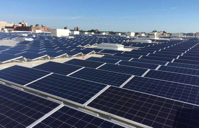 Installation by Aschinger Electric, largest rooftop array in Missouri